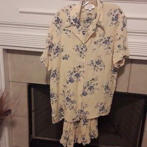 Jones New York Sport Skirt Set Shirt 8 Skirt Med